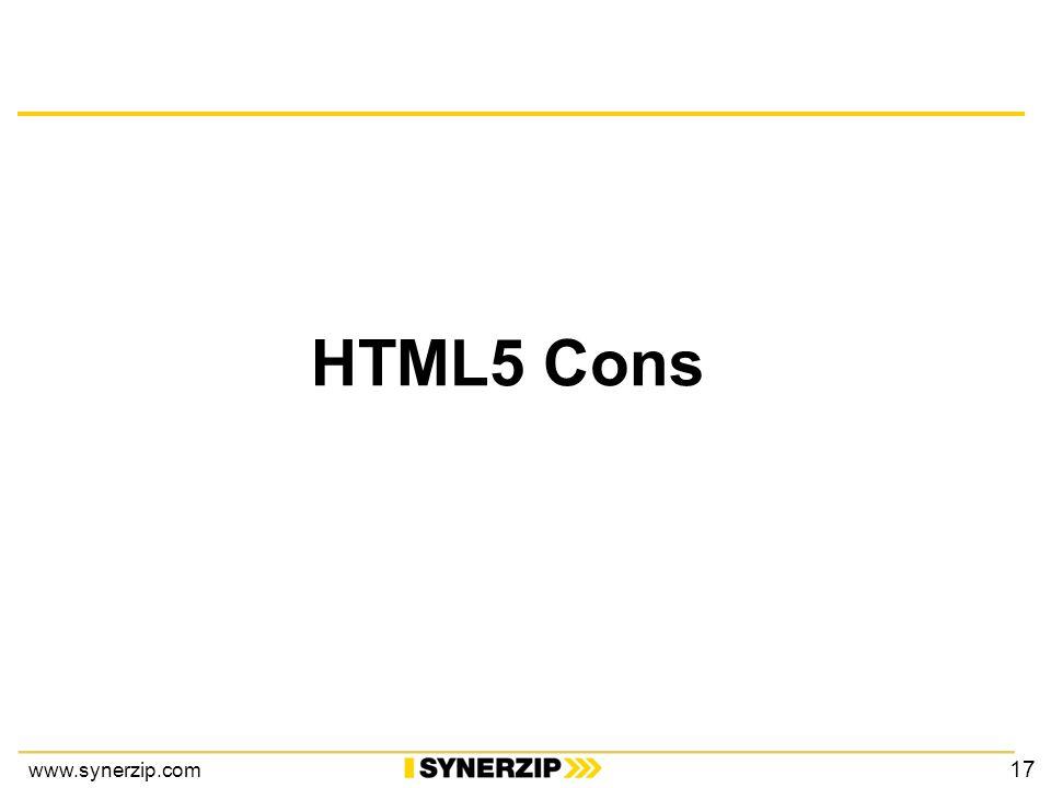 www.synerzip.com HTML5 Cons 17