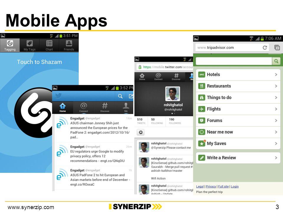 www.synerzip.com Mobile Apps 3
