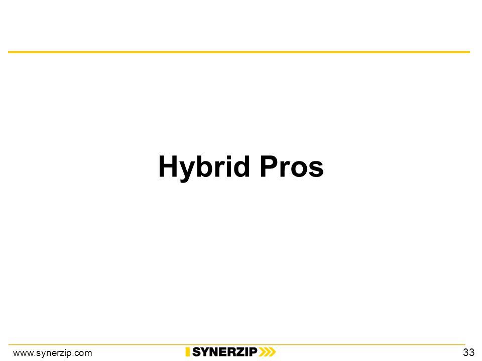 www.synerzip.com Hybrid Pros 33