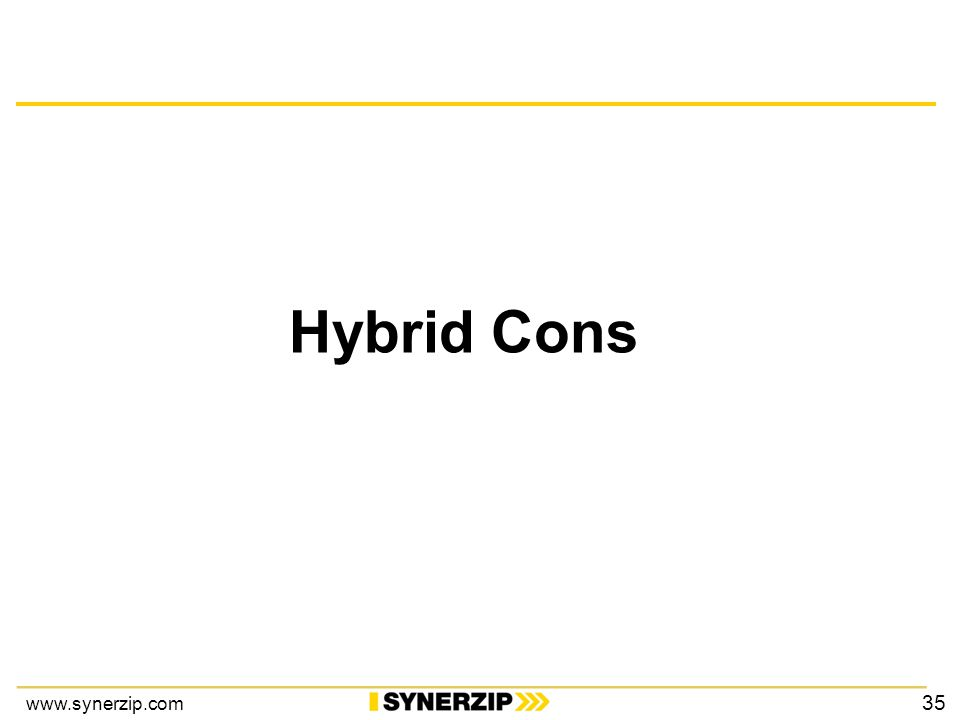 www.synerzip.com Hybrid Cons 35