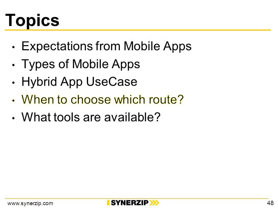 www.synerzip.com Topics 48