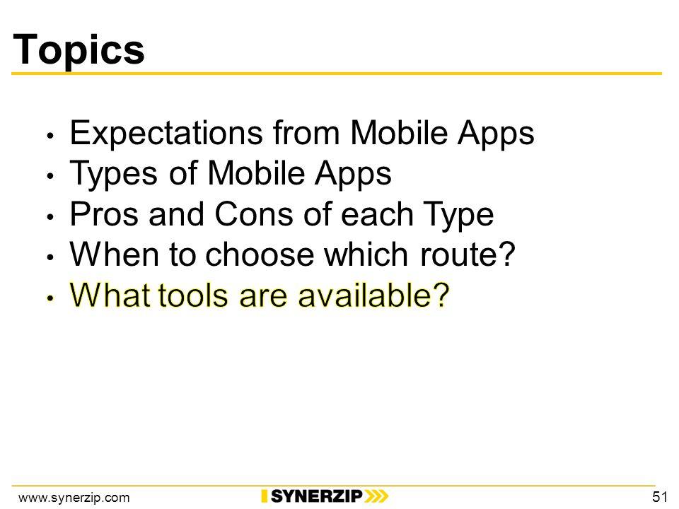 www.synerzip.com Topics 51