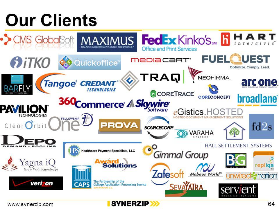 www.synerzip.com Our Clients 64