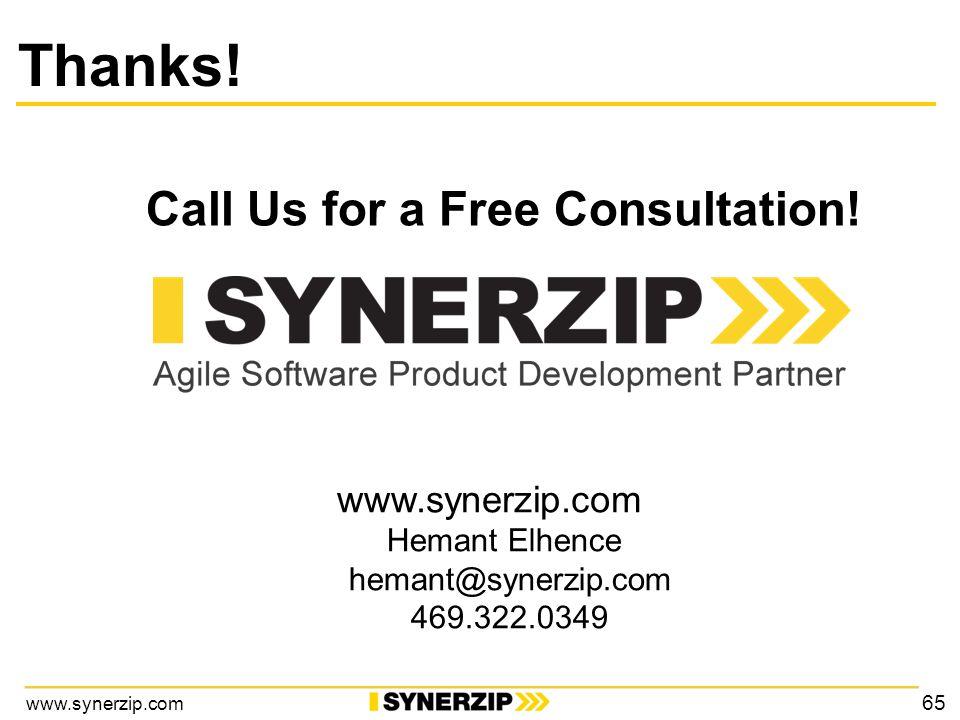 www.synerzip.com Call Us for a Free Consultation.
