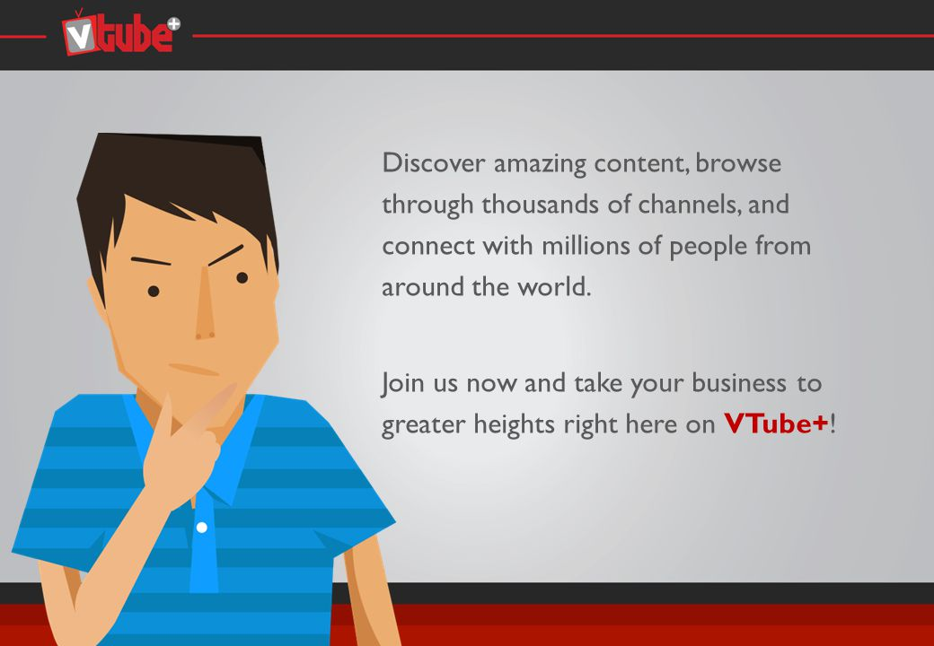 What are the types of videos available on VTube+.