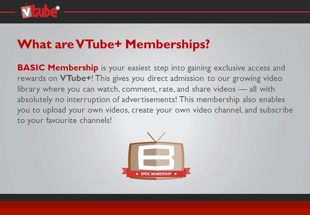 What are VTube+ Memberships.