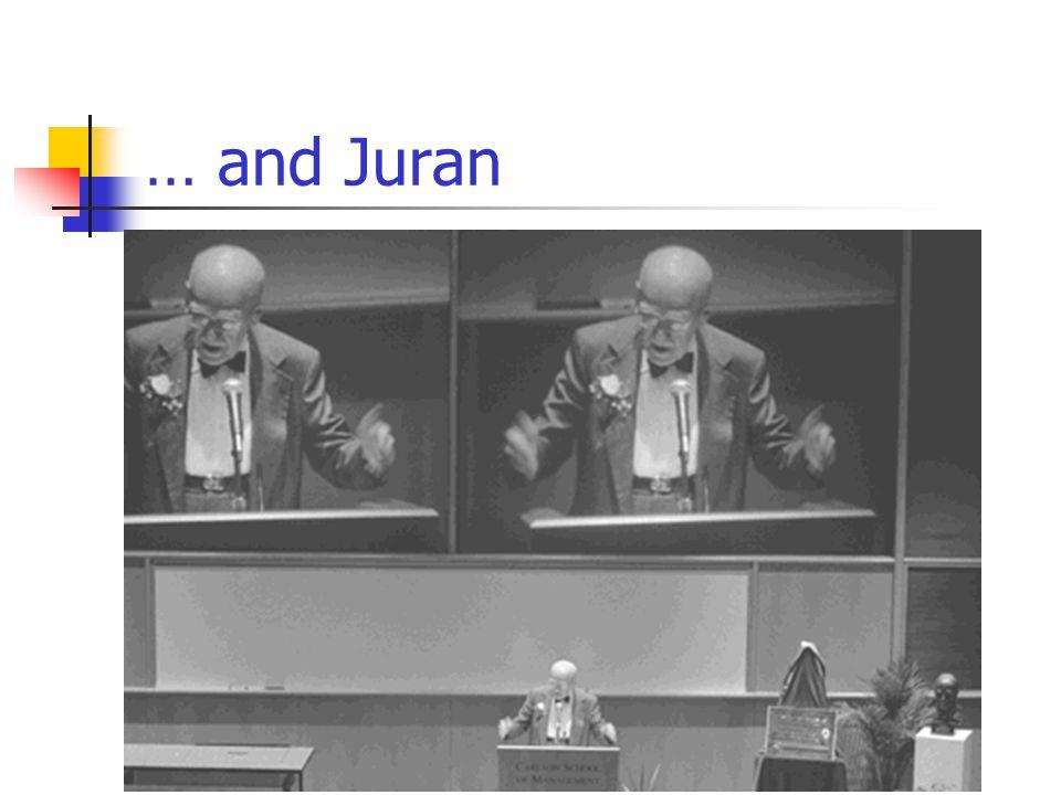 … and Juran