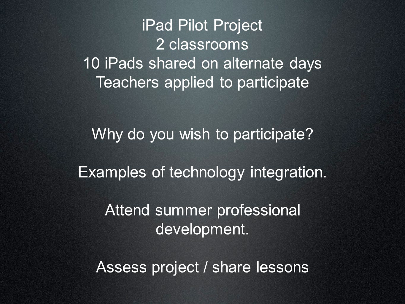 Project Study: