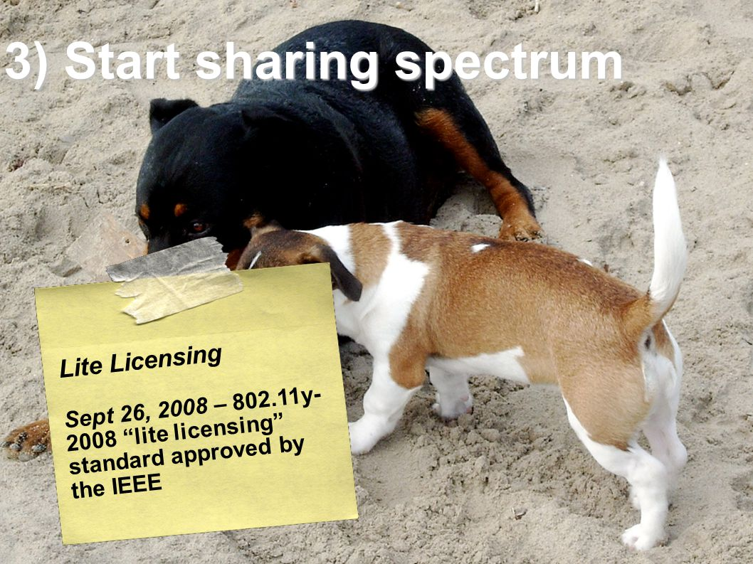 Lite Licensing Sept 26, 2008 – 802.11y- 2008 lite licensing standard approved by the IEEE