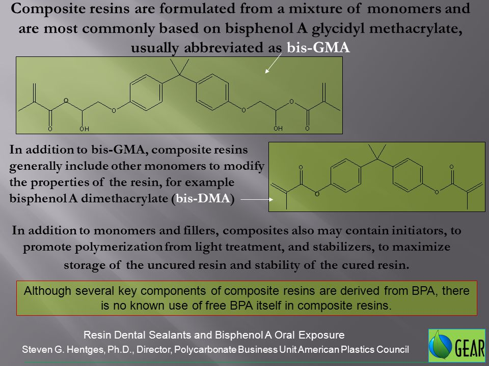 Several researchers have studied whether BPA leaches from cured dental composites or sealants.