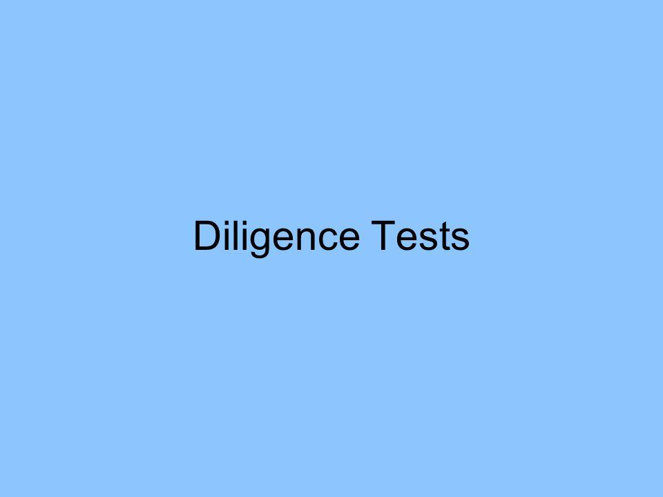 Diligence Tests