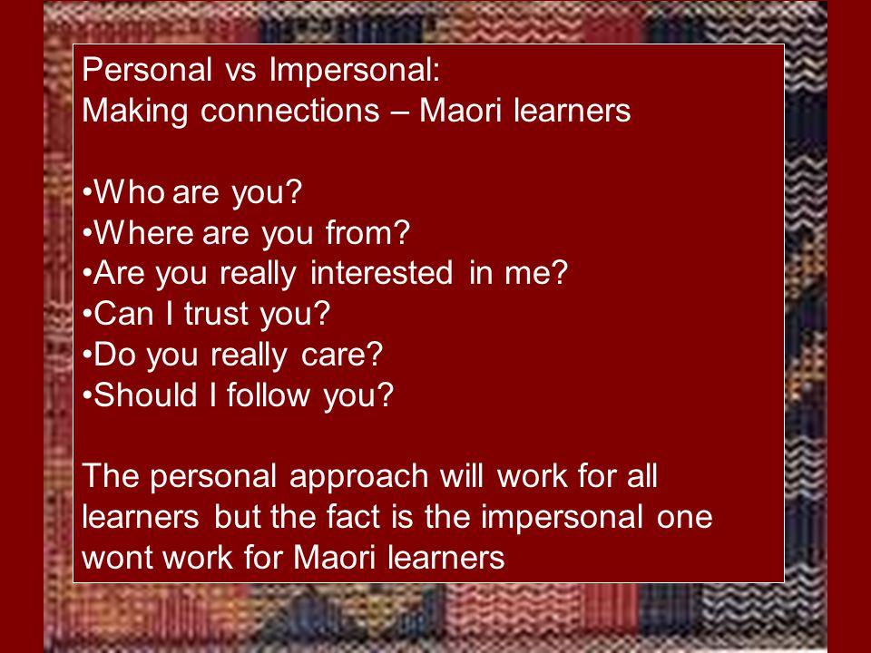 Identifying Characteristics of Maori Giftedness Wairuatanga (balance – harmony, spirituality, being grounded, calm) Pita and Claire Mahaki: