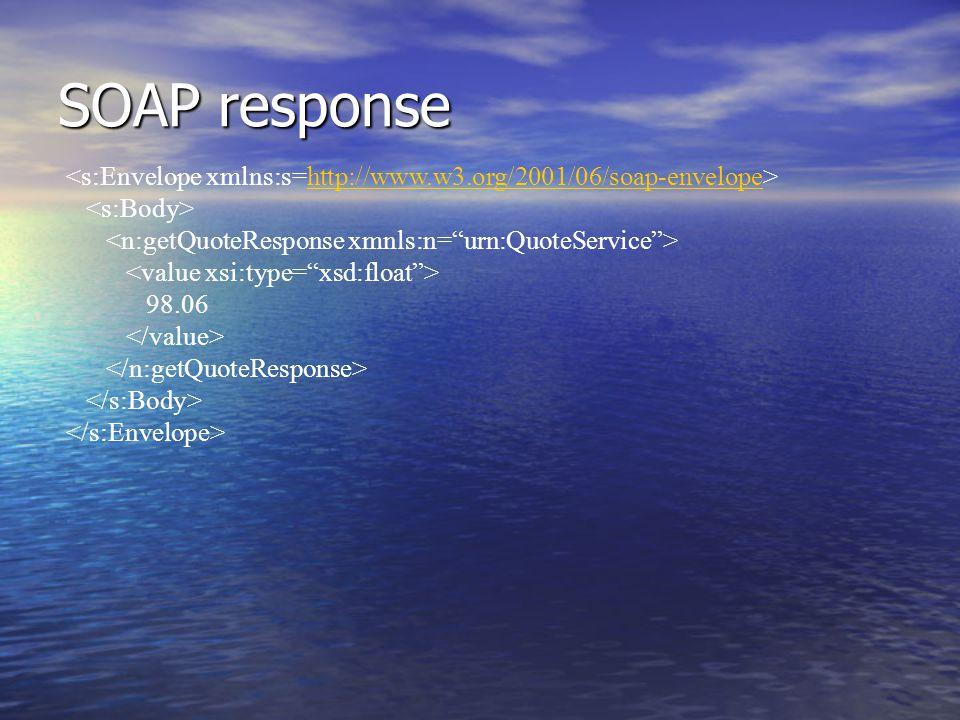 SOAP response http://www.w3.org/2001/06/soap-envelope 98.06
