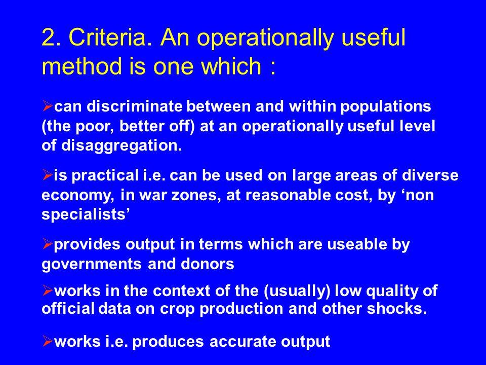 2. Criteria.