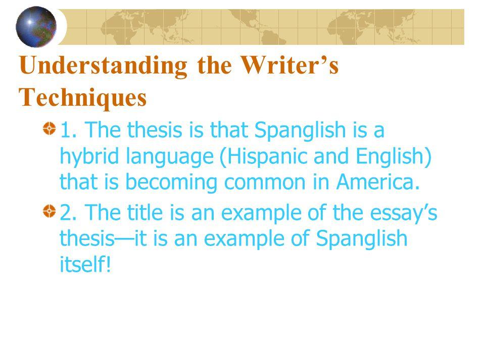 Understanding the Writer's Ideas 5.