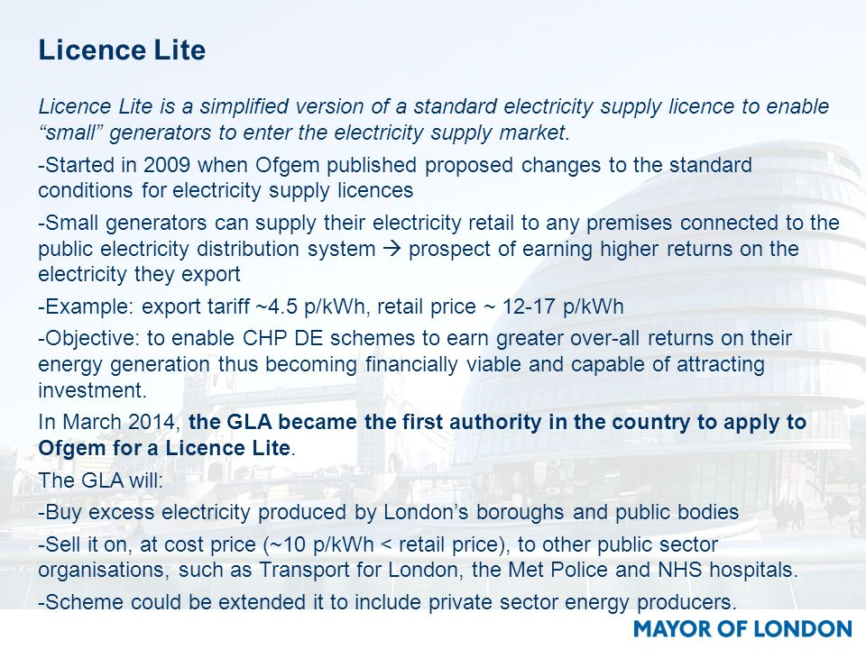 Licence Lite Licence Lite is a simplified version of a standard electricity supply licence to enable small generators to enter the electricity supply market.