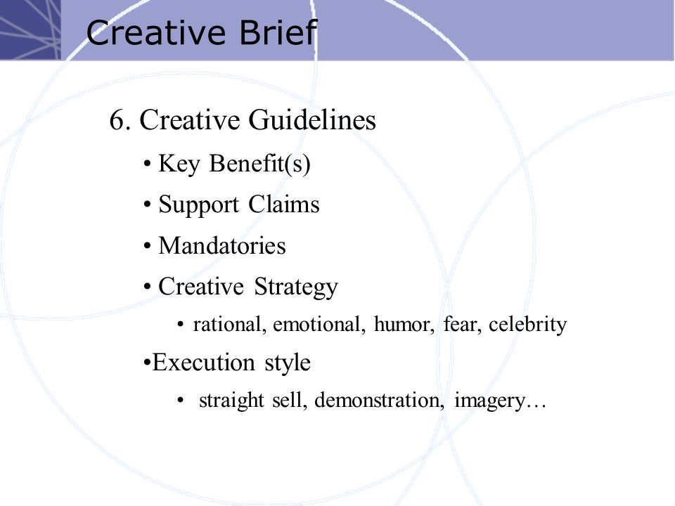 Creative Brief 6.