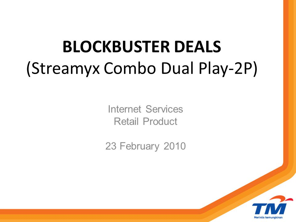 OBJECTIVE To encourage Streamyx customer to increase voice utilisation.