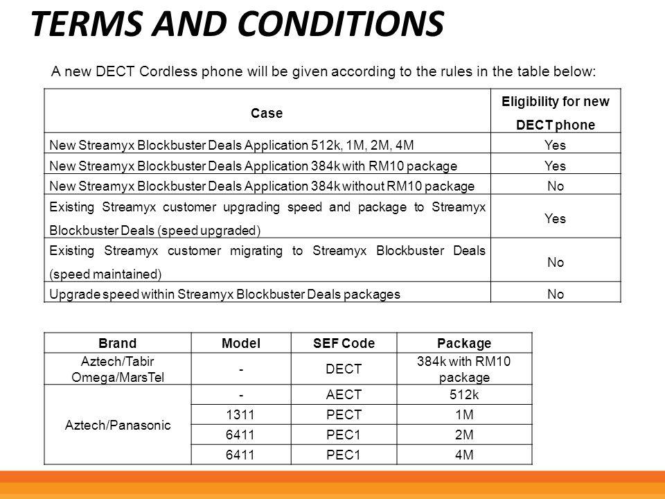 PRICING PLAN FOR 384KBPS WIRED Plan NameCommercial Name Download Speed Upload Speed Plan Streamyx G.Lite Home 384k Basic 60 - Free Modem (Streamyx Combo) Streamyx 384k (Free Modem) - RM60 (Blockbuster Deals) 384k128k Plan Streamyx G.Lite Home 384k Basic 60 - Free Modem (Streamyx Combo) (Upgrade Streamyx 384k (Free Modem) - RM60 (Blockbuster Deals) (Upgrade) 384k128k Plan Streamyx G.Lite Home 384k Basic 60 - Free Modem (Streamyx Combo) (Upgrade/Downgrade) Streamyx 384k (Free Modem) - RM60 (Blockbuster Deals) (Upgrade/Downgrade) 384k128k Plan Streamyx G.Lite Home 384k Basic 60 - Free Modem (Streamyx Combo) (Streamyx in a box) (Upgrade) Streamyx In-A-Box 384k (Free Modem) - RM60 (Blockbuster Deals) (Upgrade) 384k128k Plan Streamyx G.Lite Home 384k Basic 60 - Free Modem (Streamyx Combo) (Streamyx in a box) (Upgrade/Downgrade) Streamyx In-A-Box 384k (Free Modem) - RM60 (Blockbuster Deals) (Upgrade/Downgrade) 384k128k
