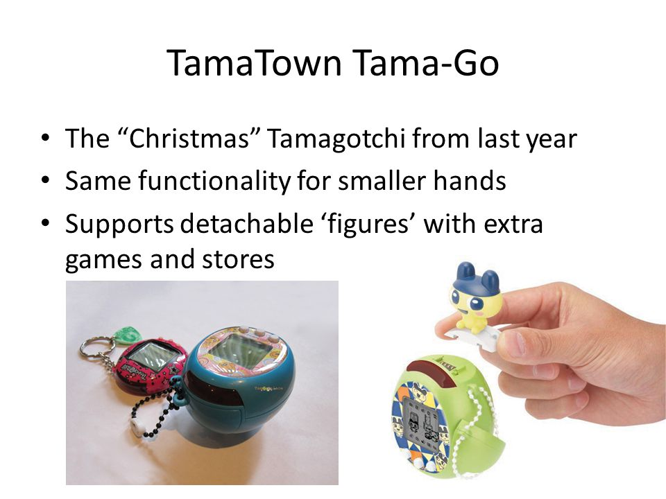 Conclusions Can 'cheat' at Tamagotchi using the EEPROM or IR Learned about Tamagotchi internals Still trying to dump the code – Continuing with simulating the figure ROM – Still *hint* looking for the test program *hint* Most importantly, good times were had by all…