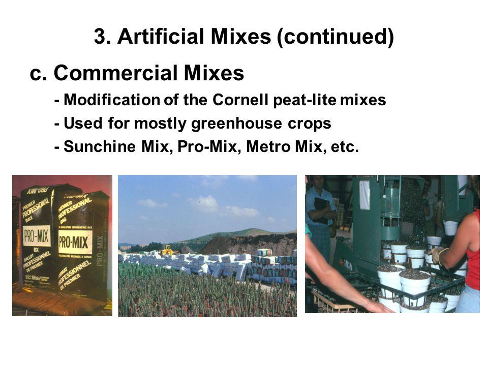 3. Artificial Mixes (continued) c.