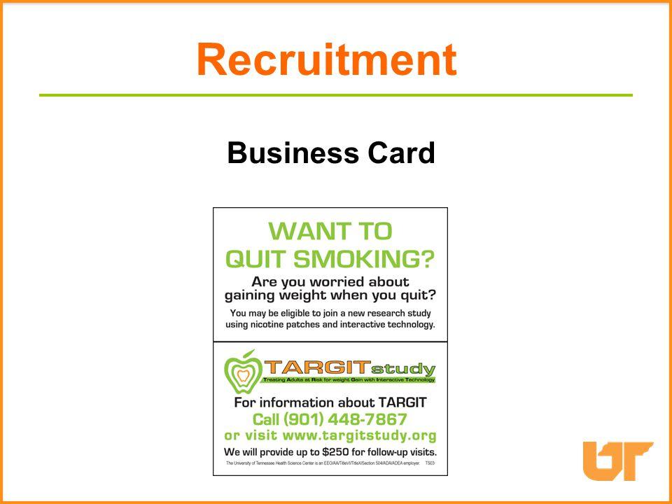 Print materials Business Card Recruitment