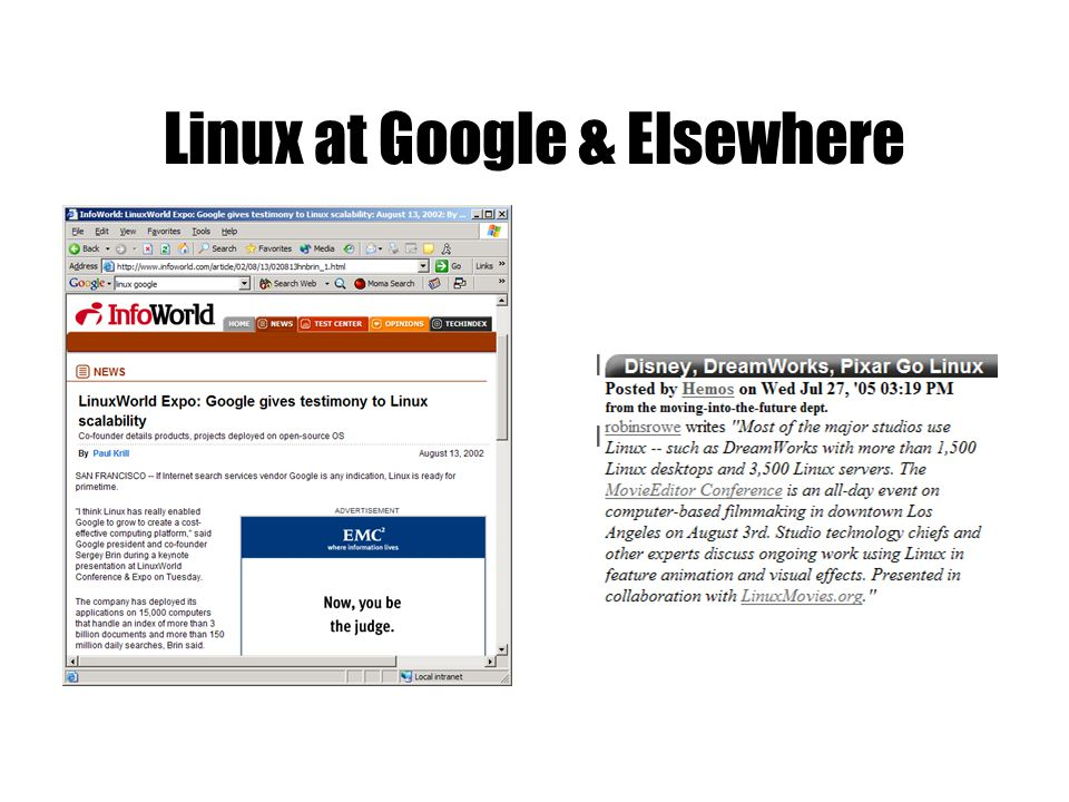 Linux at Google & Elsewhere