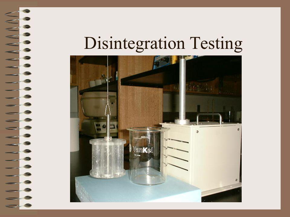 Disintegration Testing