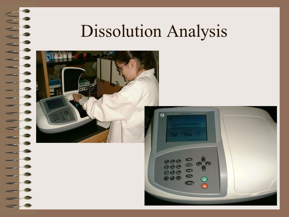 Dissolution Analysis