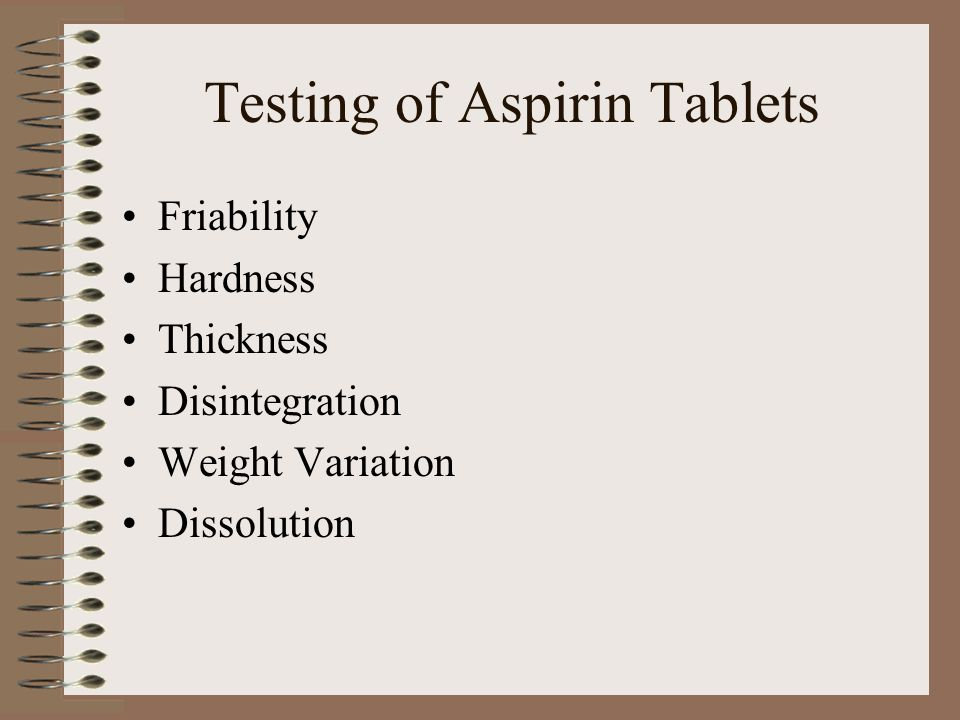 Equate Tablet Results Friability (percent loss)-0.14% Weight Variation (average/st.