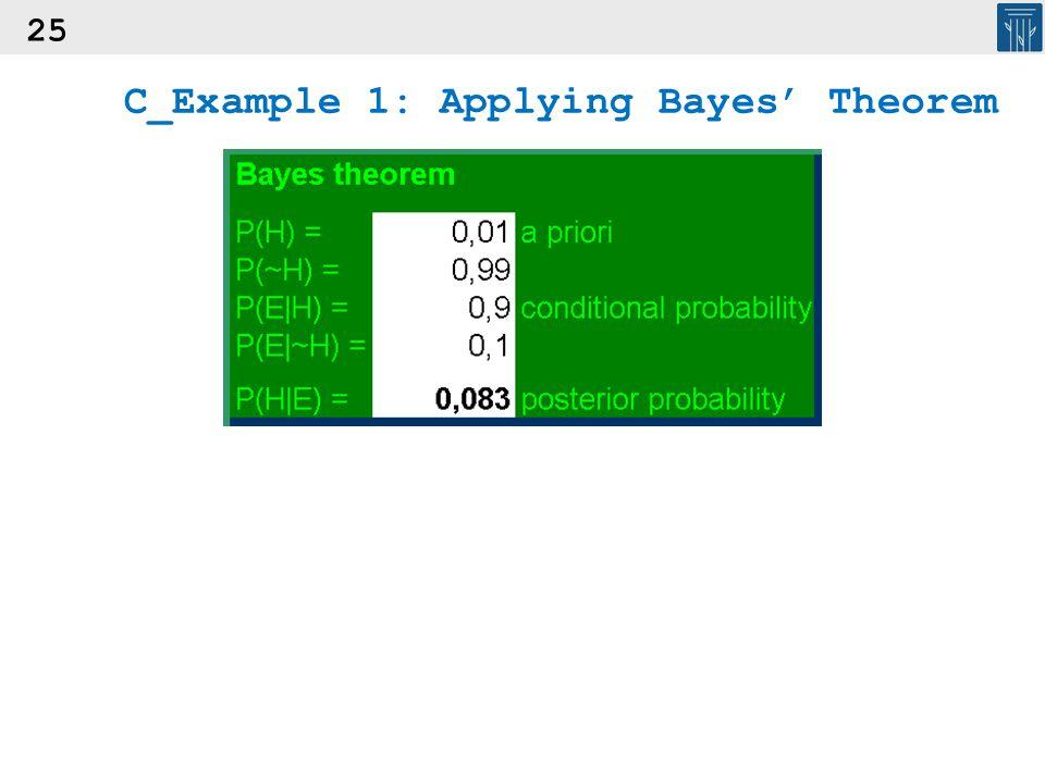 25 C_Example 1: Applying Bayes' Theorem