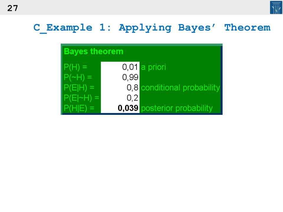 27 C_Example 1: Applying Bayes' Theorem