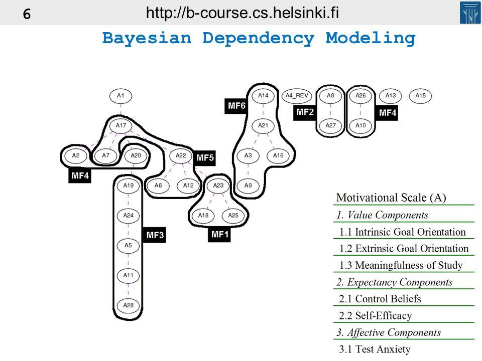 6 Bayesian Dependency Modeling http://b-course.cs.helsinki.fi