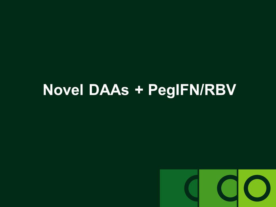Novel DAAs + PegIFN/RBV