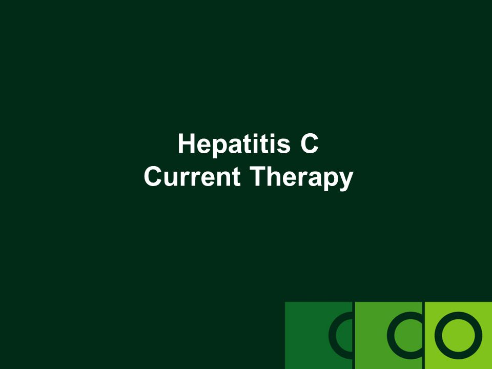 Hepatitis C Current Therapy