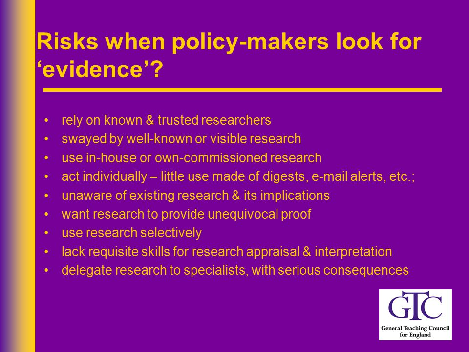 Risks when policy-makers look for 'evidence'.
