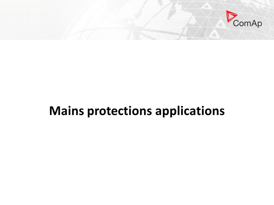 Mains protections applications