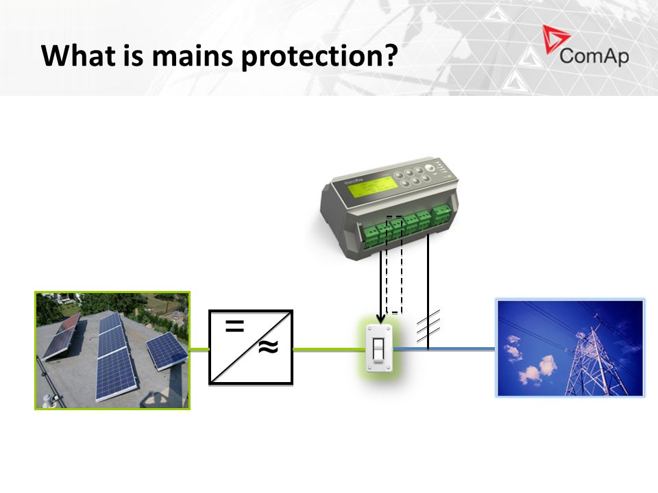 ≈ = What is mains protection?