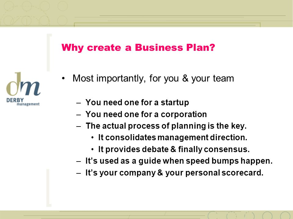 Writing The Winning Business Plan Jack Derby Derby Management
