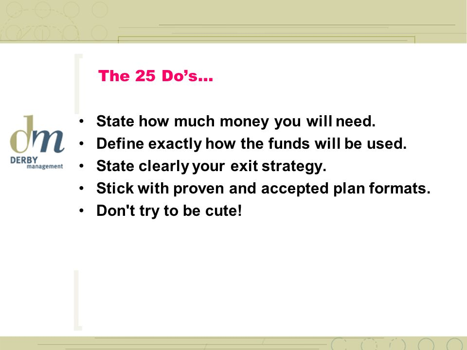 The 25 Do's… Support strategies with detailed tactics.