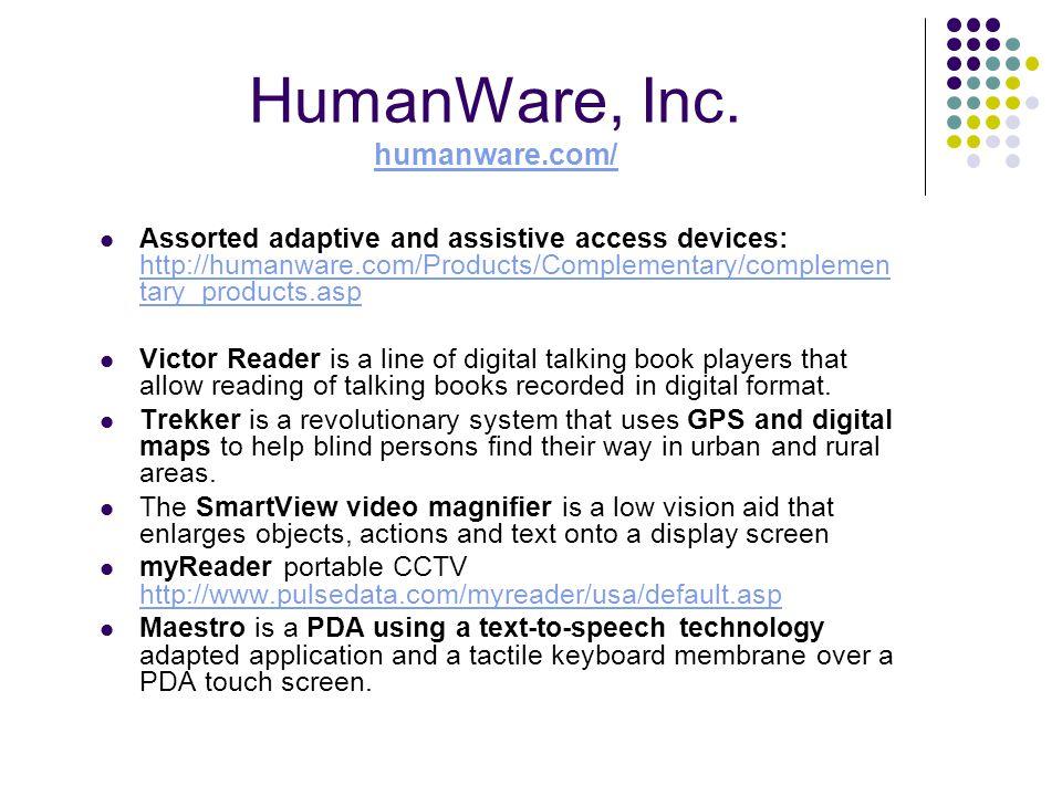 HumanWare, Inc.