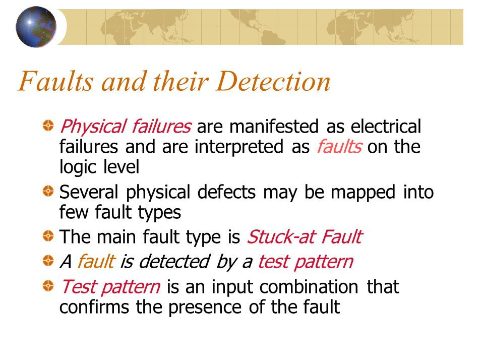 Types of Physical Faults