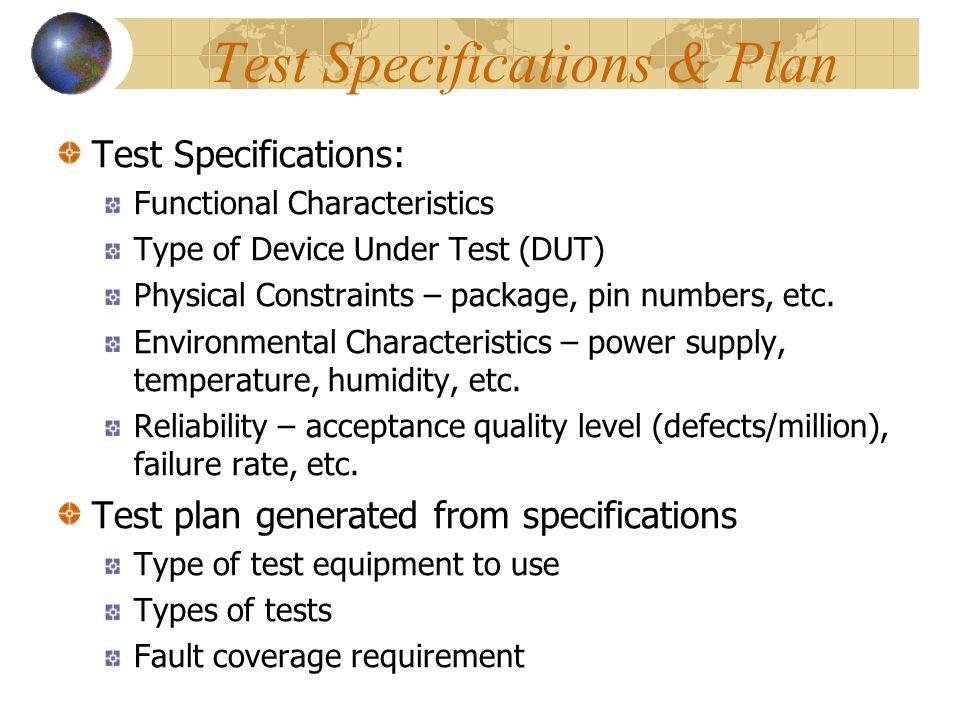On- vs Off-Chip Testing Off chip testOn chip test