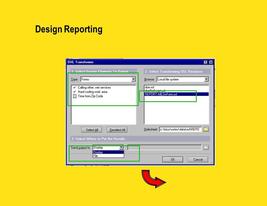 Design Reporting