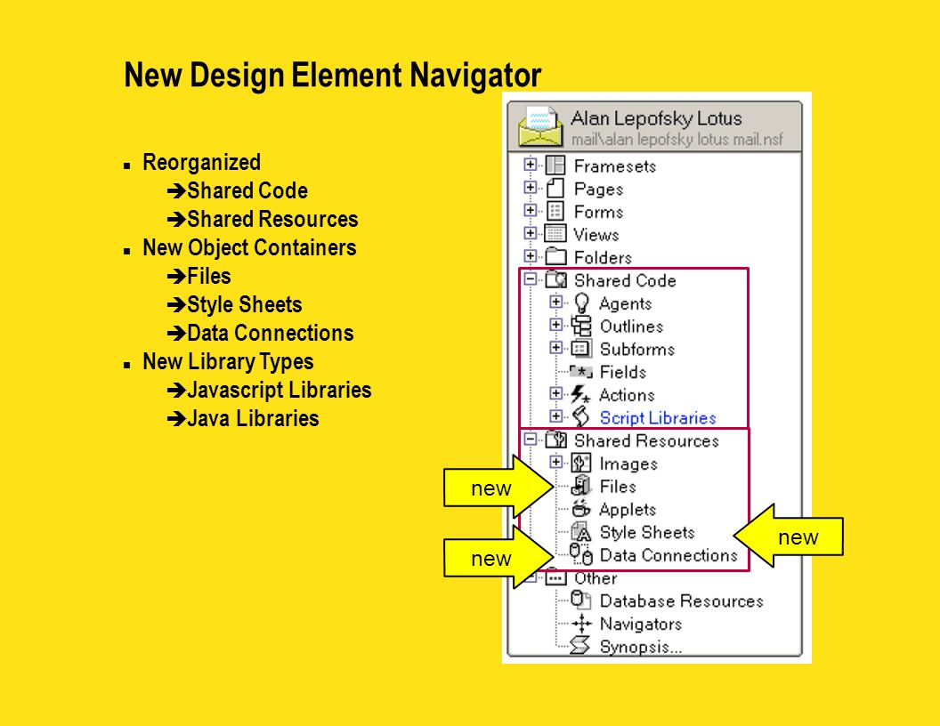 Design Element Views n Perform action (like Signing Agents) from the view