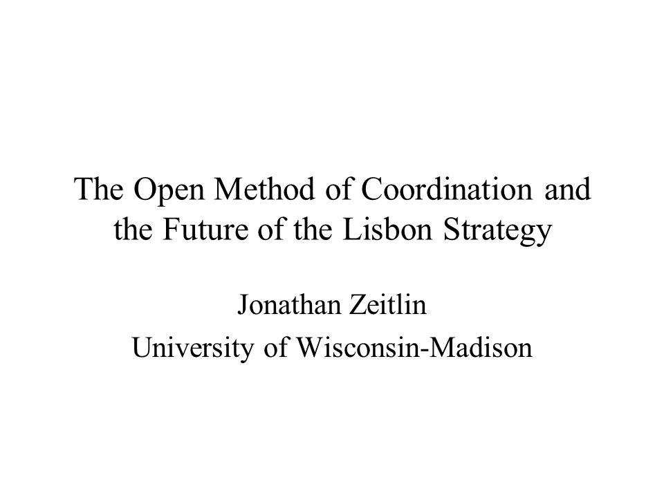 Plan of the talk I.Revising the Lisbon Strategy: What's at stake.