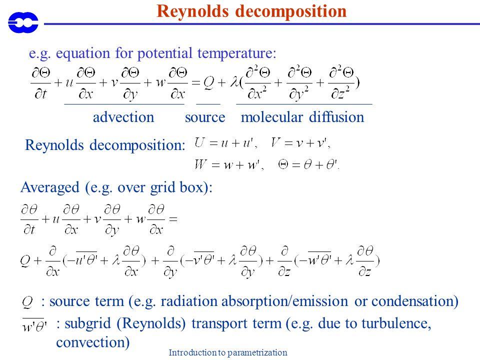 Introduction to parametrization PYREX mountain drag (Oct/Nov 1990) Lott and Miller, 1995.