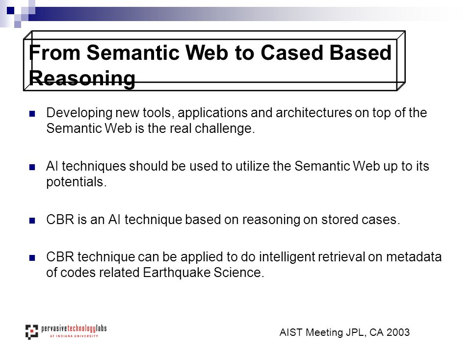 Developing new tools, applications and architectures on top of the Semantic Web is the real challenge.