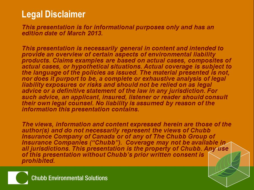 Legal Disclaimer This presentation is for informational purposes only and has an edition date of March 2013.