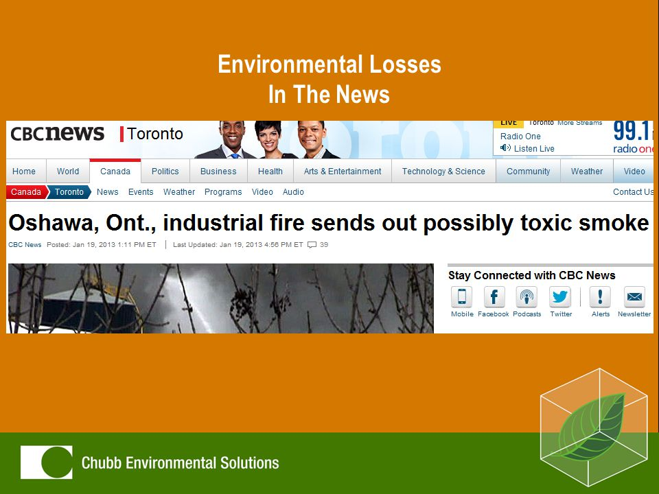 Environmental Losses In The News